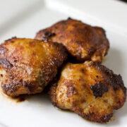 Honey Brushed Chicken Thighs