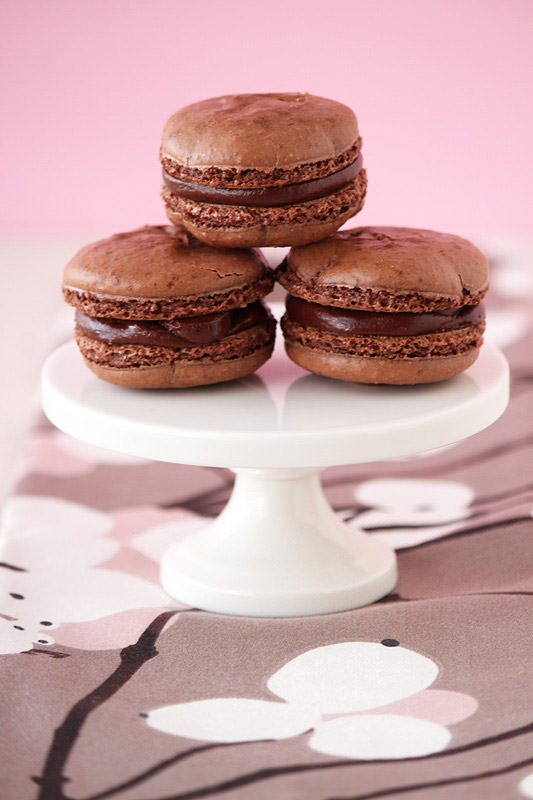 Chocolate Espresso Macarons from HandletheHeat.com