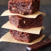 Thick & Fudgy Toffee Brownies by Handle the Heat