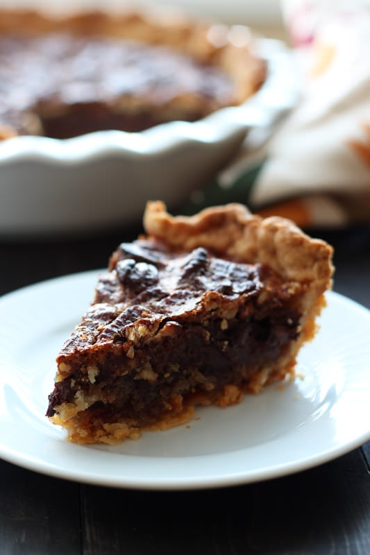 Chocolate Pecan Pie is perfect for Thanksgiving and has an ooey, gooey ...