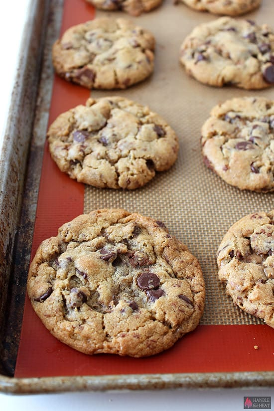 Browned Butter Toffee Chocolate Chip Cookies - Handle the Heat