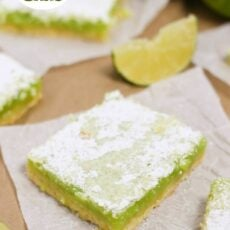 These are SO tangy and good!! Homemade Lime Bars in 1 hour!